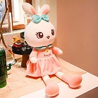 Gấu bông thỏ Smile thỏ bông 2 màu xanh hồng kích thước 55-65-80cm