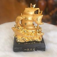 Thuyền Buồm Phong Thủy Chở Tài Lộc Mạ Vàng Kích Thước Nhỏ
