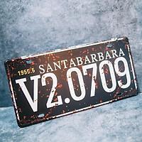 Santabarbara V2.0709 - Biển số 15x30cm vintage decor trang trí