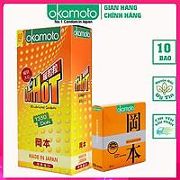 [Tặng 1 Hộp Cam 3 Cái] .Bao Cao Su Do t.d e.H ot Okamoto , Gai Nóng Truyền Nhiệt Nhanh mang cảm giác tốt nhất, hàng chính hãng Japan Hộp 10 Cái .(Che tên sản phẩm khi giao) CONDOM.
