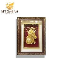 Tranh Ông Lộc dát vàng (40x65cm) MT Gold Art- Hàng chính hãng, trang trí nhà cửa, phòng làm việc, quà tặng sếp, đối tác, khách hàng, tân gia, khai trương
