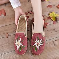Giày mọi vải êm chân thêu hoa sang trọng