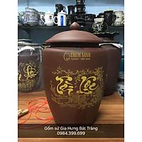 Hũ đựng gạo gốm Bát Tràng loại đựng 15kg