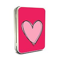 Hộp thiếc Vintage Box - Pink heart