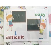 Opposite adjective flashcard - Thẻ học tiếng Anh chủ đề Tính từ trái nghĩa (20 cards)