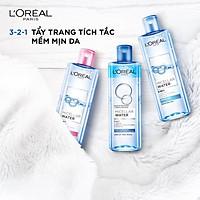 Nước tẩy trang L'oreal Paris Micellar Water 3 in 1 tặng kèm miếng dán tóc siêu xinh - Pháp Chính Hãng
