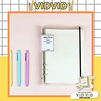 Sổ Caro bìa nhựa kẹp còng A5 - 200 trang ,Giấy siêu dày Klong MS: 994