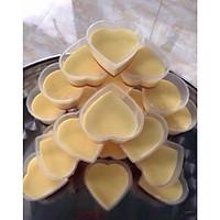 Combo 50 Khuôn Làm Pudding Bánh Flan Rau Câu Hình Trái Tim Có Nắp 7cm