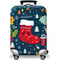 Túi bọc bảo vệ vali -Áo vỏ bọc vali - Ủng Giáng Sinh