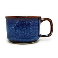 02 Cốc cà phê trung chân thấp Đông Gia - xanh sóng biển 8094. Medium coffee cup D7.5H5.5