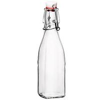 Combo 4 chai thủy tinh vuông nắp khóa cài dung tích 1000 ml - Made in Italy