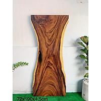 Mặt bàn gỗ me tây nguyên tấm KT 72x190x4.5cm