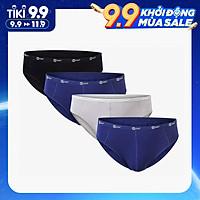 Combo 4 quần lót nam cạp 1cm sợi tre Bamboo tự nhiên mềm mịn thấm hút mồ hôi ( 3 Màu)