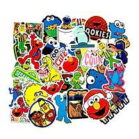 Sesame Street & Kaws Stickers set 30 ảnh có ép lụa