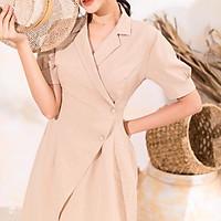 Malie Dress / Đầm cổ chữ K vải đũi