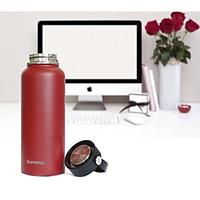 Bình giữ nhiệt inox Bonnman dung tích lớn 960ml màu đỏ, giữ nhiệt cực lâu đặc biệt với nước lạnh