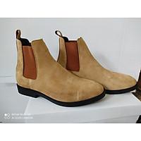 Chelsea Boots Da Lộn Nâu Đế crep