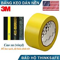 Băng keo dán nền 3M 764 cảnh báo màu vàng chuyên dùng dán cảnh báo phân ô phân làn, cảnh báo nhà xưởng, tủ điện (50mm X 32,9m)