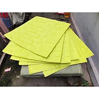 combo 80 tấm xốp dán tường giả gạch bnmj8 màu vàng 8