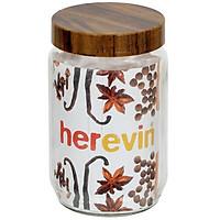 Hũ Thuỷ Tinh Herevin Tròn Trơn