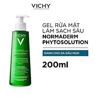 Gel Rửa Mặt Sạch Sâu Giảm Nhờn Vichy Normaderm Phytosolution 200ml