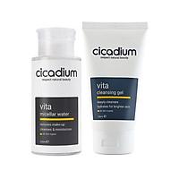 Bộ sản phẩm tẩy trang và rửa mặt cho mọi loại da Cicadium
