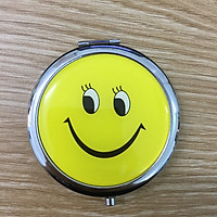 Gương trang điểm mini mặt cười đáng yêu gấp 2 mặt