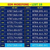 SIM SỐ ĐẸP MOBIFONE - LIST 18 (MBFDS18) - Số dễ nhớ, thần tài, lộc phát, số cặp - ĐĂNG KÝ ĐÚNG CHỦ ONLINE - Hàng chính hãng