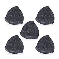 Bộ 5 DĨA TAM GIÁC DTG 17 vân đá đen  nhựa Melamine