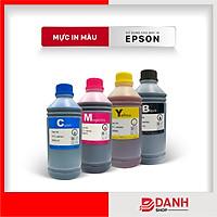 Bộ 4 Màu Cyan-Magenta-Yellow-Black_Mực nước cho dòng máy Epson 4 màu ( EP L Series )- Chai 1L-DYE ink