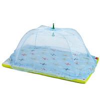 Màn( Mùng) chụp cao cấp chống các loại muỗi và côn trùng cho bé, khung inox, gập gọn tiện dụng