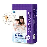 Combo 2 túi Bỉm dán GOLDGI+ Size L 56 miếng (cho trẻ từ 9-14kg)