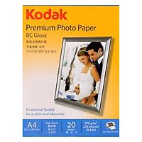 Giấy In Ảnh Cao Cấp Kodak RC 1 Mặt Siêu Bóng (High Glossy) A4 (21 x 29.7cm) 270gsm 20 Tờ - Hàng chính hãng