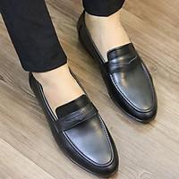 Giày Da nam cực chất xả kho giá gốc - giày lười nam x076