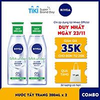 Combo 2 Nước Tẩy Trang NIVEA White Oil Clear Kiểm Soát Nhờn Micellar Water (200ml) - 86609