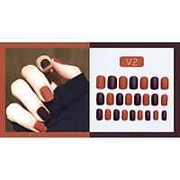 Bộ 24 móng tay giả nail thơi trang như hình V2