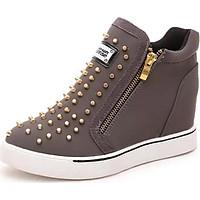 Giày sneaker cổ cao nạm đinh Mã: GC0223 - XÁM