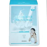 Hộp 10 Mặt Nạ Tinh Chất Sữa, Collagen Dưỡng Trắng và Cấp Ẩm - FRESKIN Milk Holic Mask