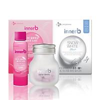 Combo hộp 6 chai nước uống Collagen Vitamin C sáng da InnerB Glowshot & thực phẩm bảo vệ sức khỏe InnerB Snow White