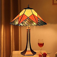 Đèn bàn Tiffany Retro chao đường kính 40cm