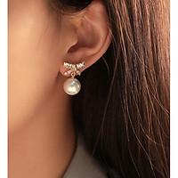 Bông tai nơ đá bông tai ngọc trai phụ kiện xinh - không dị ứng