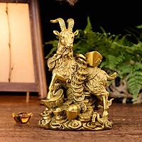 Tượng linh vật con dê bằng đồng thau phong thủy Hồng Thắng