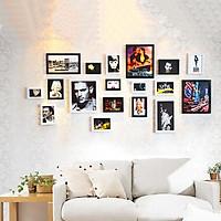 Bộ 18 Khung ảnh Composite Treo Tường quán Cafe, Trà sữa KA1802 Miễn phí phụ kiện.