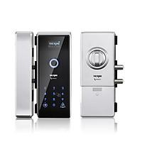 Khóa cửa điện tử VICKINI 39701.002 SPR bạc sơn. Mở bằng vân tay, mật khẩu, thẻ từ. Hàng chính hãng