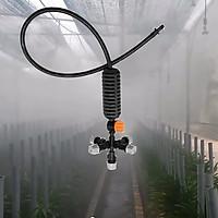 5 Bộ phun sương tưới cây đầy đủ có van khóa mini cho vườn treo, nhà kính