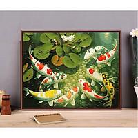 Tranh sơn dầu số hóa - tranh tô màu theo số-  khung gỗ 40x50 Mẫu 113