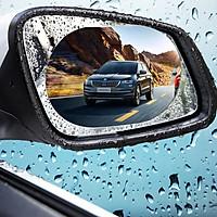 Bộ 2 miếng dán chống nước gương chiếu hậu ô tô, xe hơi Cao cấp hình Oval kích cỡ 135 x 95 mm