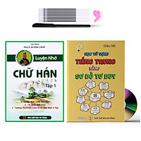 Sách - Combo 2 sách Học từ vựng tiếng Trung bằng sơ đồ tư duy và Luyện nhớ chữ Hán bằng câu chuyện tập 1 (phân tích theo giáo trình hán ngữ tặng 1 bút cao cấp 10 ngòi )+DVD tài liệu