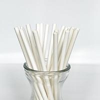 [AgroLife] Hộp 20 ống hút không cắt xéo Phi 6mm - Ống hút giấy từ sợi mía