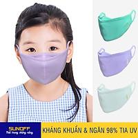 Combo 3 Khẩu trang Bé Gái (2 lớp Vải Kháng khuẩn & Ngăn 98% tia UV Cao cấp 3in1) - SUNOFF Coolsport